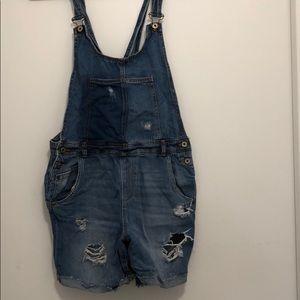 Zara size medium short overalls